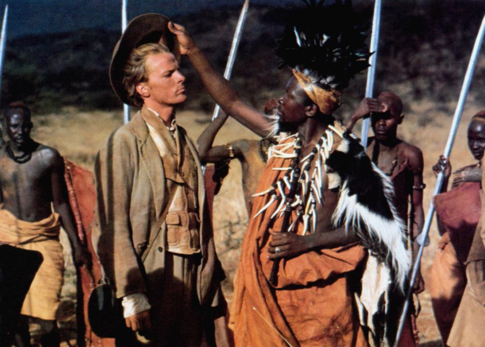 MOUNTAINS OF THE MOON, Iain Glen (left of center), 1990. ©TriStar Pictures